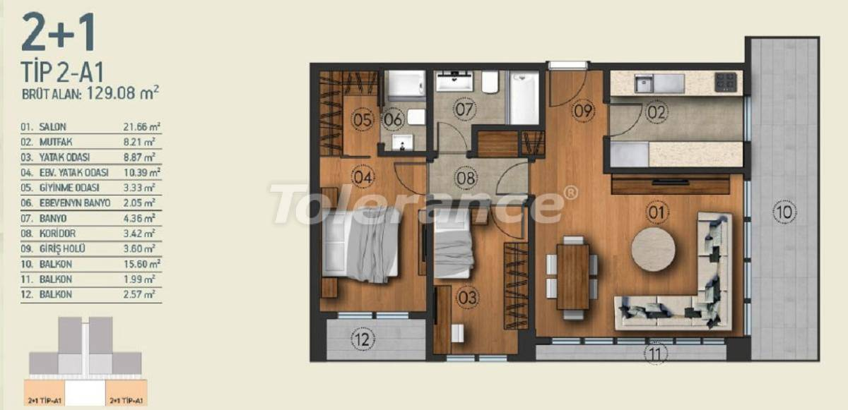 Modern apartments in Istanbul with a view of the Belgrade Forest in a complex with an indoor pool - 26951   Tolerance Homes
