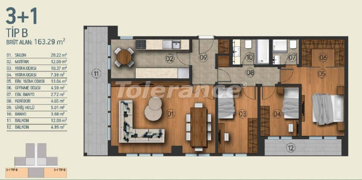 Modern apartments in Istanbul with a view of the Belgrade Forest in a complex with an indoor pool - 26958   Tolerance Homes