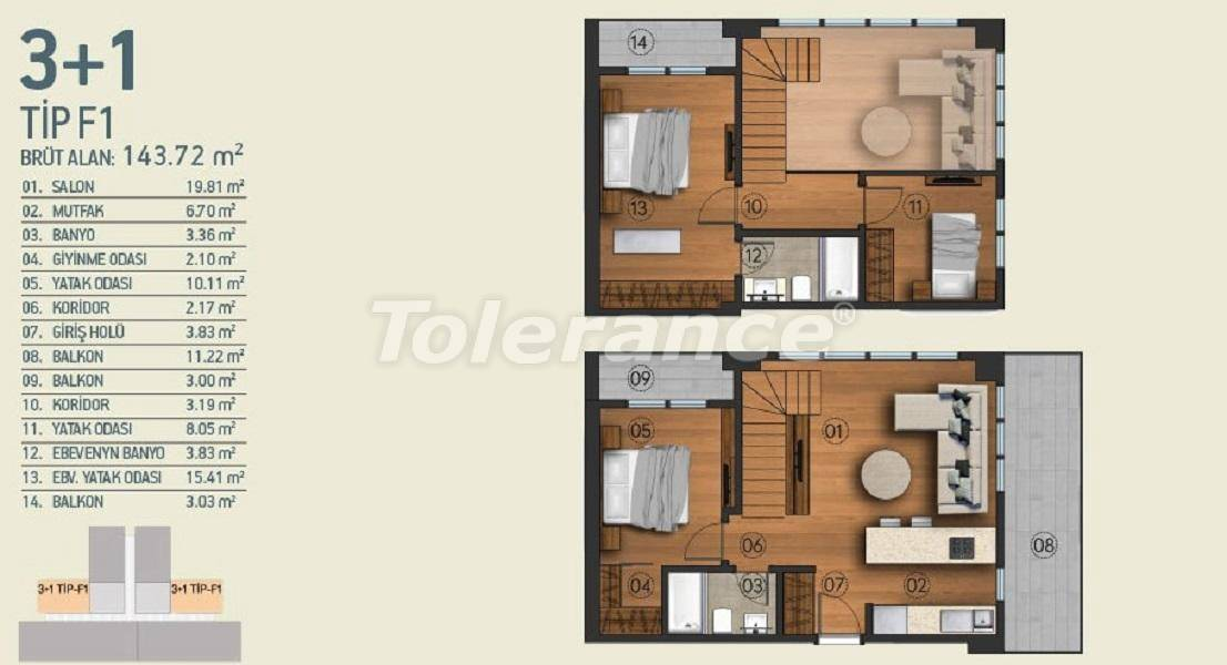Modern apartments in Istanbul with a view of the Belgrade Forest in a complex with an indoor pool - 26963   Tolerance Homes