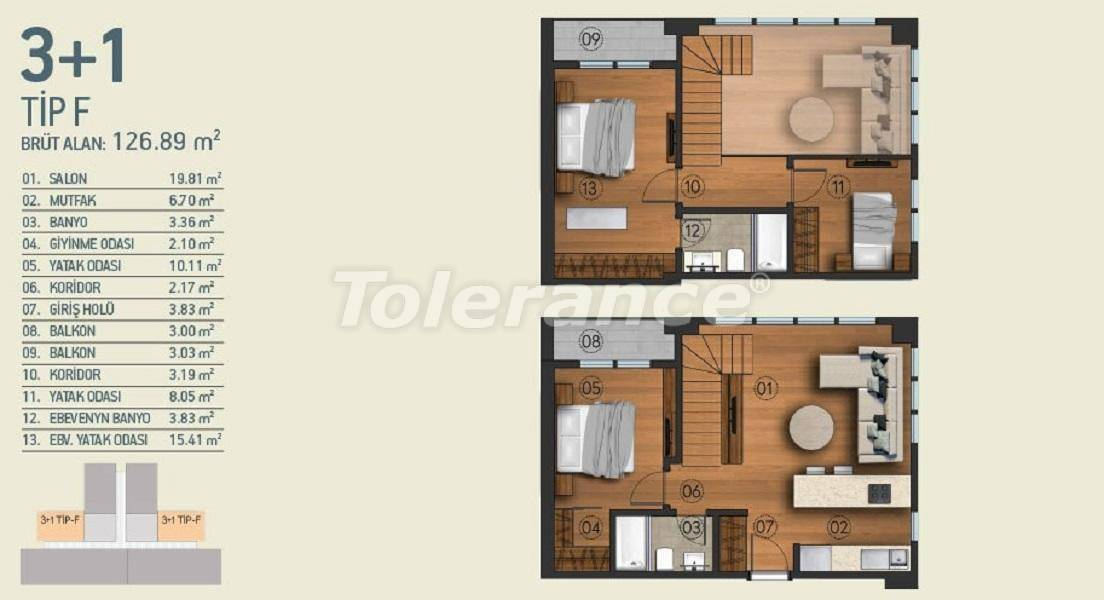Modern apartments in Istanbul with a view of the Belgrade Forest in a complex with an indoor pool - 26962   Tolerance Homes
