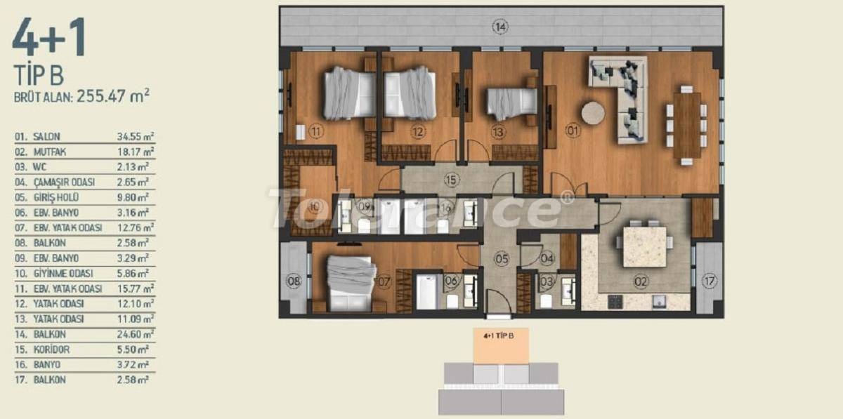 Modern apartments in Istanbul with a view of the Belgrade Forest in a complex with an indoor pool - 26965   Tolerance Homes