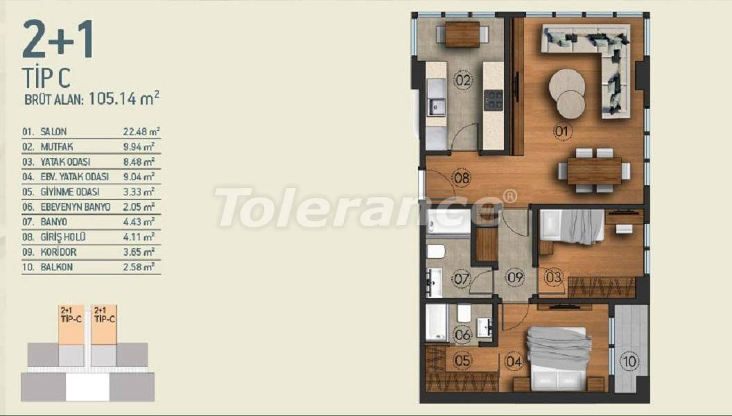 Modern apartments in Istanbul with a view of the Belgrade Forest in a complex with an indoor pool - 26954   Tolerance Homes