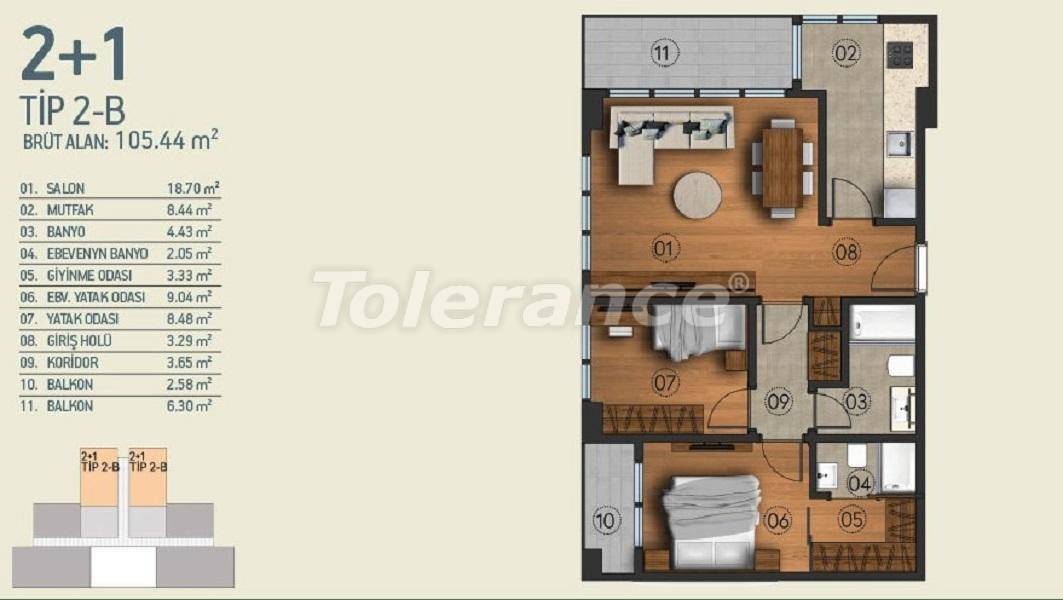 Modern apartments in Istanbul with a view of the Belgrade Forest in a complex with an indoor pool - 26953   Tolerance Homes