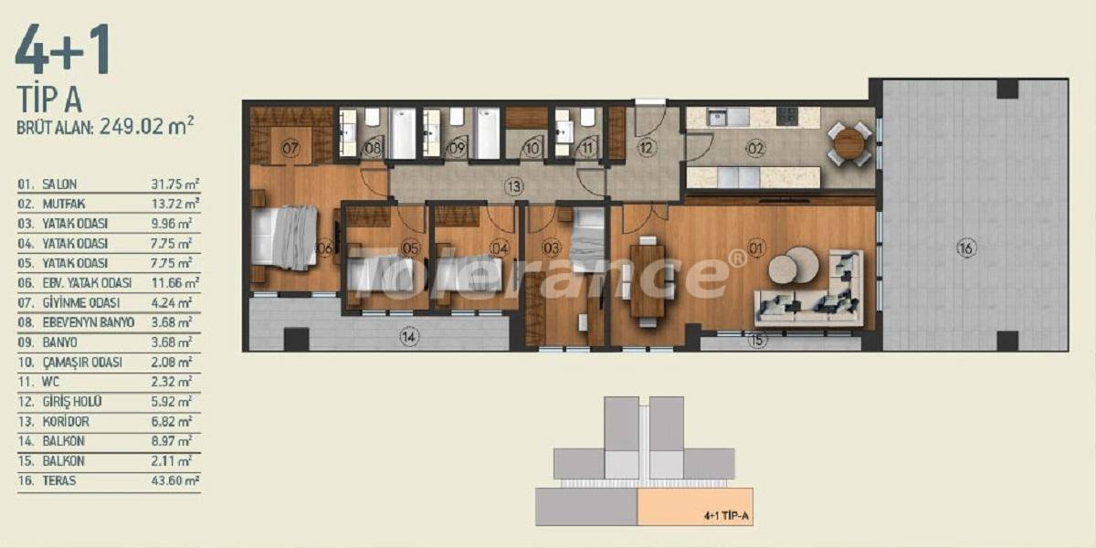 Modern apartments in Istanbul with a view of the Belgrade Forest in a complex with an indoor pool - 26964   Tolerance Homes