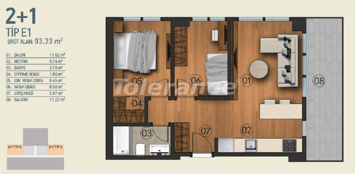 Modern apartments in Istanbul with a view of the Belgrade Forest in a complex with an indoor pool - 26956   Tolerance Homes