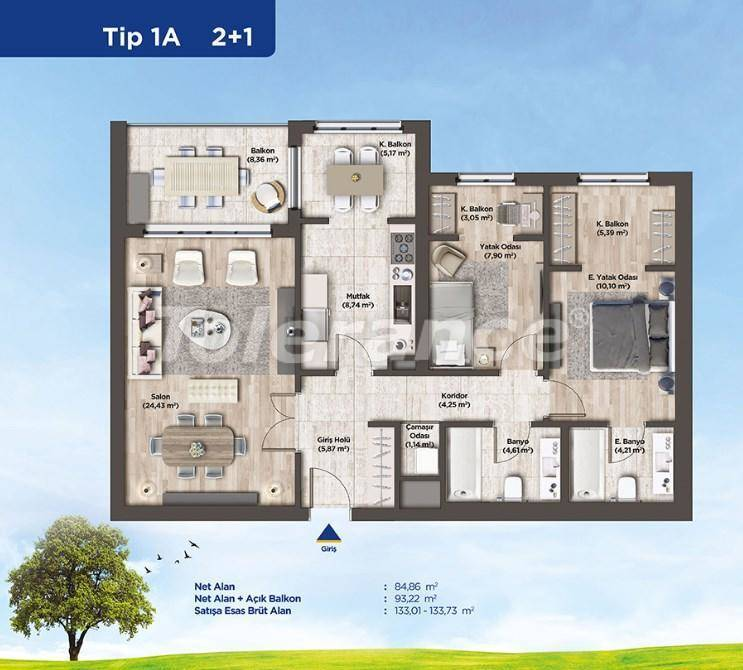 Apartments in Istanbul from the developer in a profitable investment project - 26986   Tolerance Homes