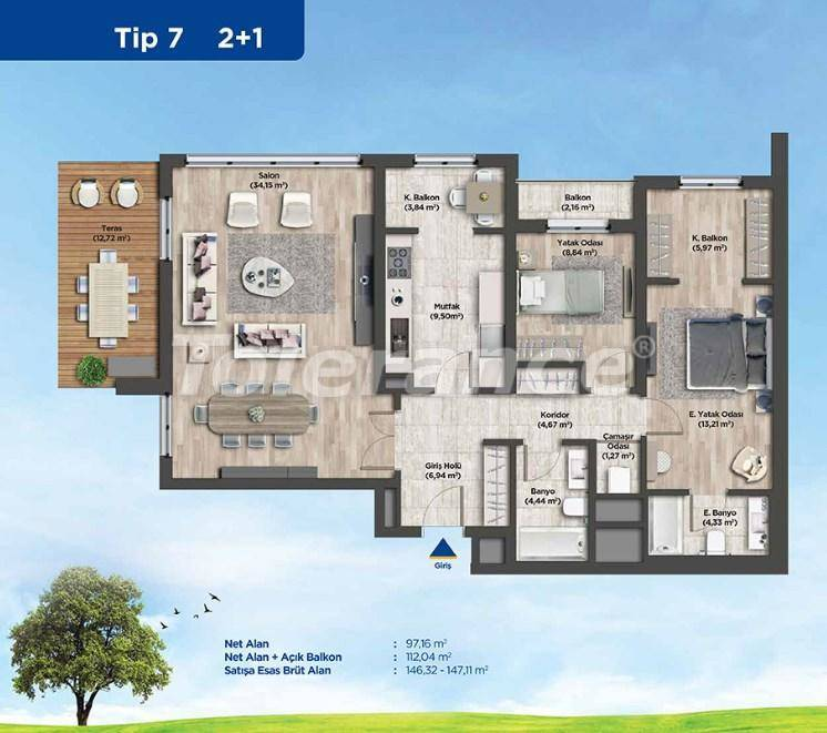 Apartments in Istanbul from the developer in a profitable investment project - 26987   Tolerance Homes
