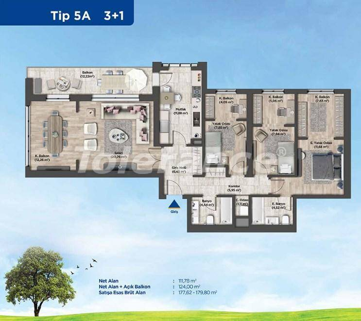 Apartments in Istanbul from the developer in a profitable investment project - 26988   Tolerance Homes