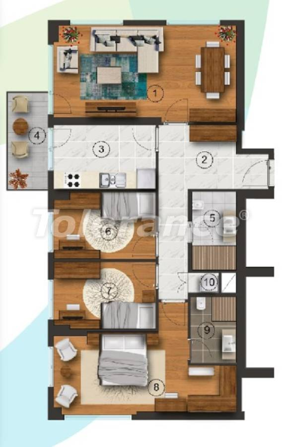 Apartments in Istanbul with a separate kitchen, with installments from the developer - 27094   Tolerance Homes