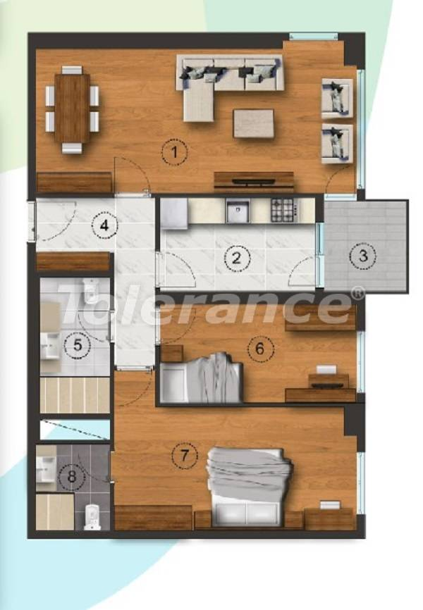 Apartments in Istanbul with a separate kitchen, with installments from the developer - 27091   Tolerance Homes