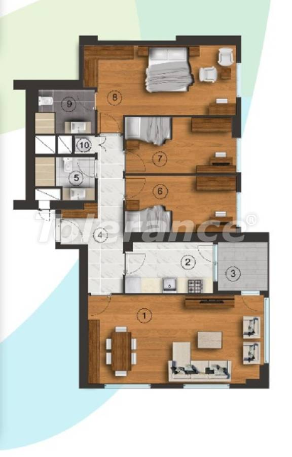 Apartments in Istanbul with a separate kitchen, with installments from the developer - 27093   Tolerance Homes