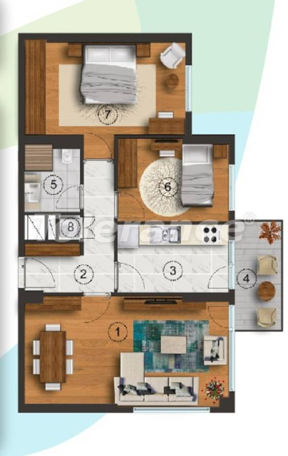 Apartments in Istanbul with a separate kitchen, with installments from the developer - 27092   Tolerance Homes