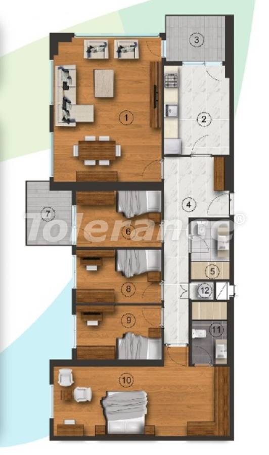 Apartments in Istanbul with a separate kitchen, with installments from the developer - 27095   Tolerance Homes