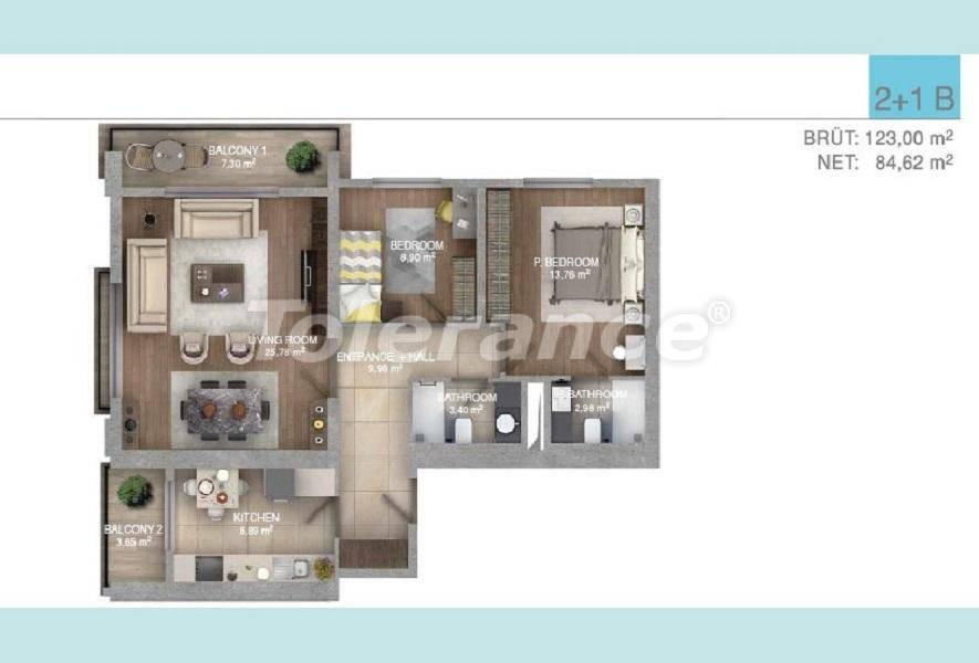 Spacious apartments in Istanbul in a complex with an indoor pool - 27097 | Tolerance Homes