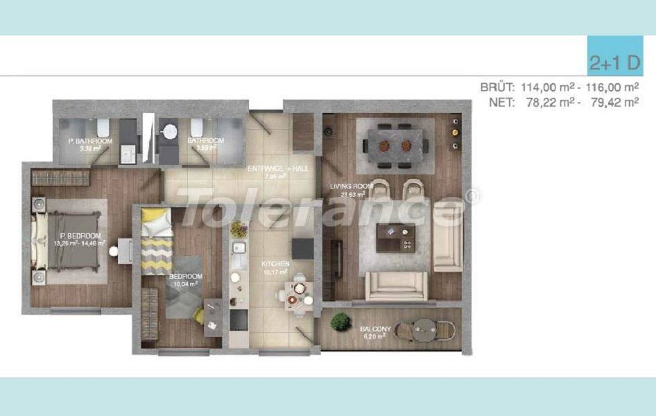 Spacious apartments in Istanbul in a complex with an indoor pool - 27099 | Tolerance Homes