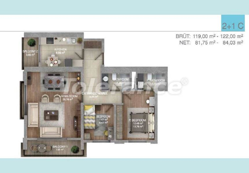 Spacious apartments in Istanbul in a complex with an indoor pool - 27098 | Tolerance Homes