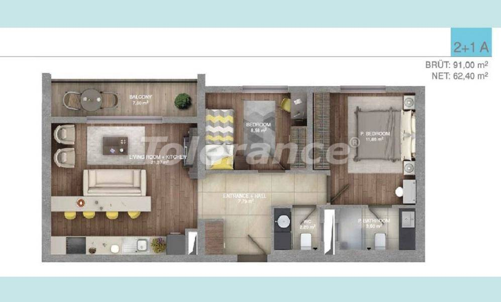 Spacious apartments in Istanbul in a complex with an indoor pool - 27096 | Tolerance Homes