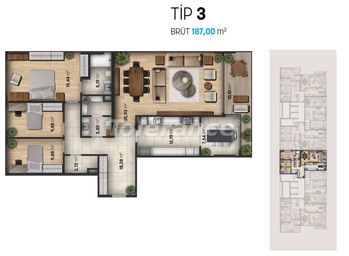 Luxury apartments in Beylikduzu, Istanbul in a modern complex with sea views - 27111   Tolerance Homes