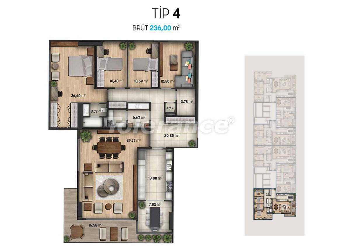Luxury apartments in Beylikduzu, Istanbul in a modern complex with sea views - 27113   Tolerance Homes