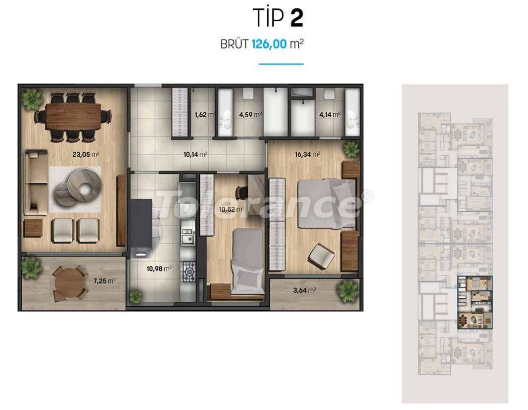 Luxury apartments in Beylikduzu, Istanbul in a modern complex with sea views - 27112   Tolerance Homes