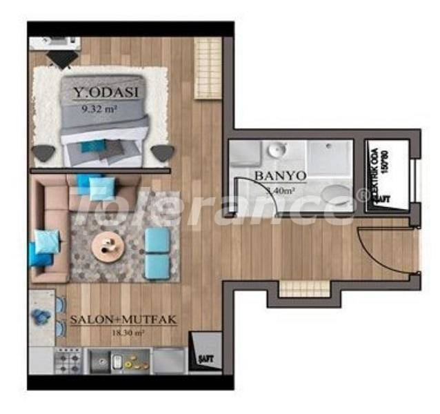 Affordable apartments in Istanbul profitable for investment with sea view, and possibility to obtain citizenship - 27128   Tolerance Homes