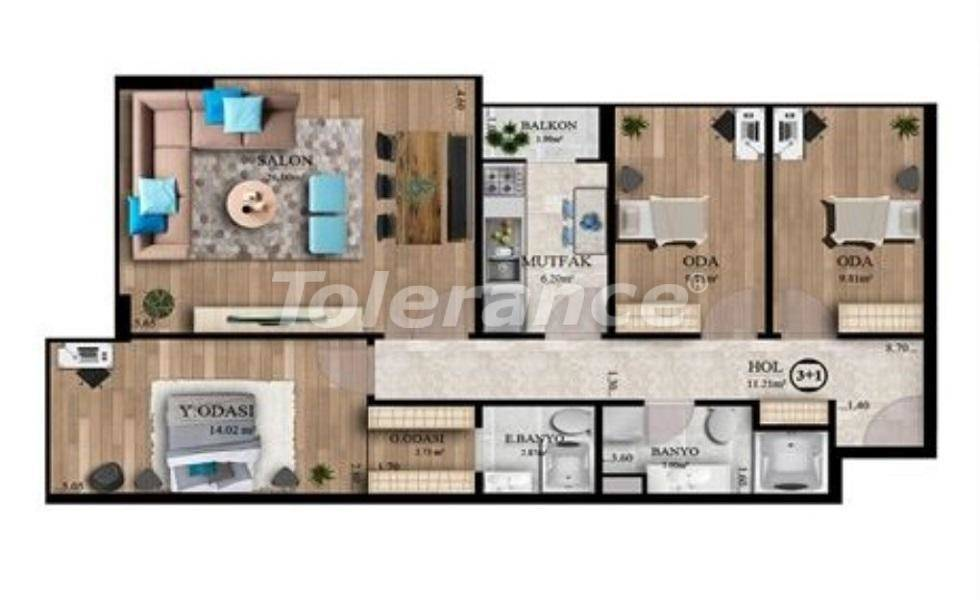 Affordable apartments in Istanbul profitable for investment with sea view, and possibility to obtain citizenship - 27130   Tolerance Homes