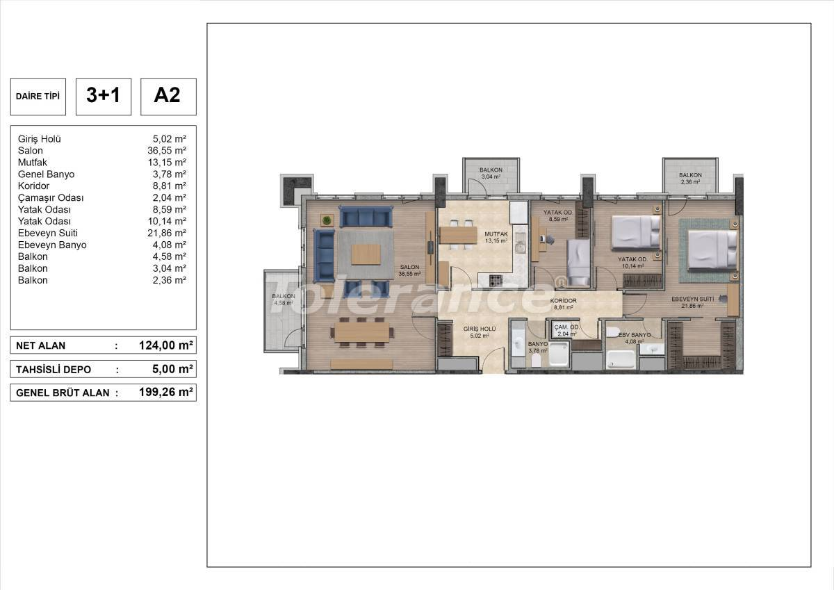 High quality apartments in Istanbul with installments and 3 years rental guarantee - 31975 | Tolerance Homes