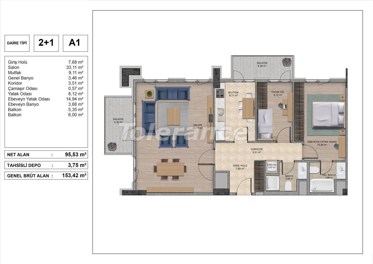High quality apartments in Istanbul with installments and 3 years rental guarantee - 31969 | Tolerance Homes