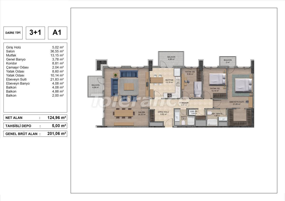 High quality apartments in Istanbul with installments and 3 years rental guarantee - 31974 | Tolerance Homes