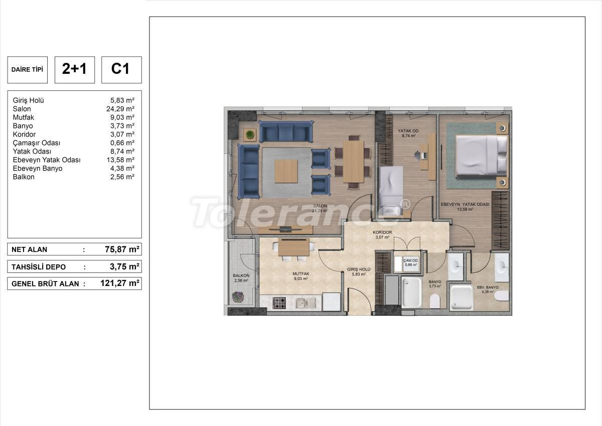 High quality apartments in Istanbul with installments and 3 years rental guarantee - 31971 | Tolerance Homes