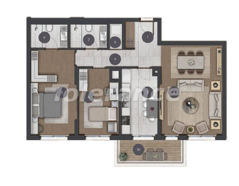 Luxury spacious apartments in Istanbul from the developer - 27285 | Tolerance Homes