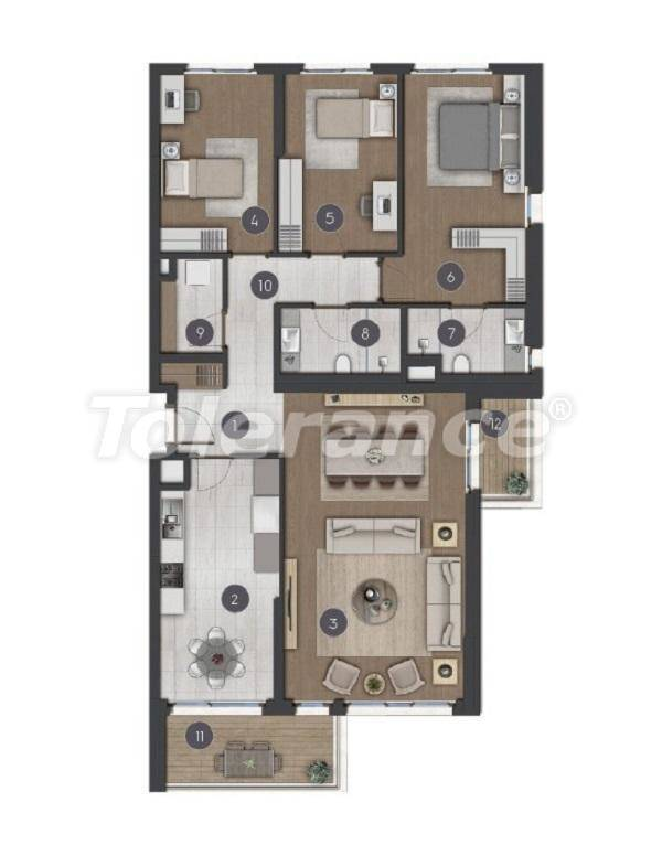Luxury spacious apartments in Istanbul from the developer - 27287 | Tolerance Homes