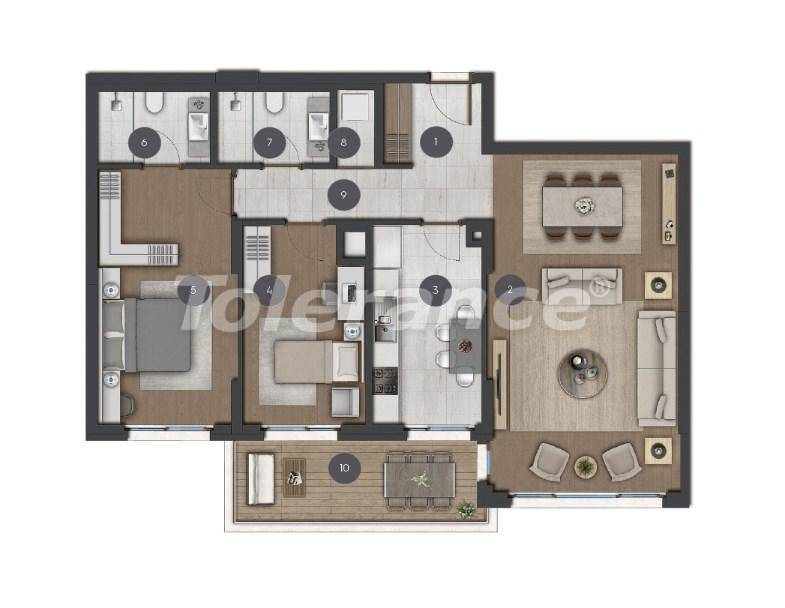 Luxury spacious apartments in Istanbul from the developer - 27275 | Tolerance Homes