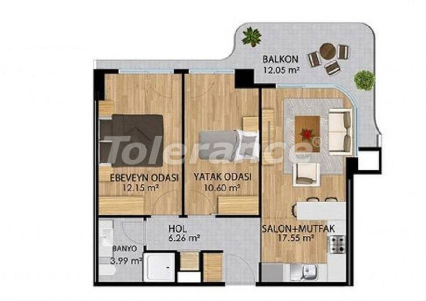 Apartments in a modern complex in Istanbul with a rich infrastructure by installments from the developer - 27375   Tolerance Homes