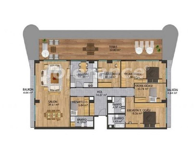 Apartments in a modern complex in Istanbul with a rich infrastructure by installments from the developer - 27381   Tolerance Homes