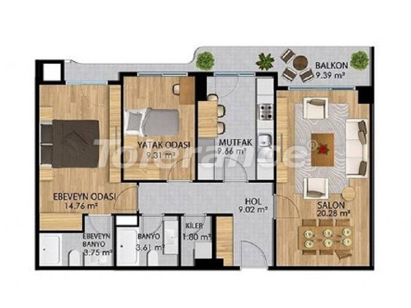 Apartments in a modern complex in Istanbul with a rich infrastructure from the developer - 27373   Tolerance Homes