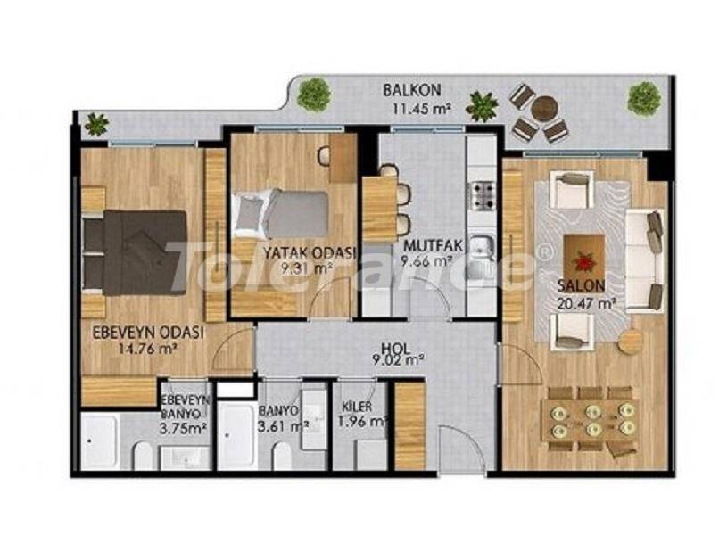 Apartments in a modern complex in Istanbul with a rich infrastructure from the developer - 27374   Tolerance Homes