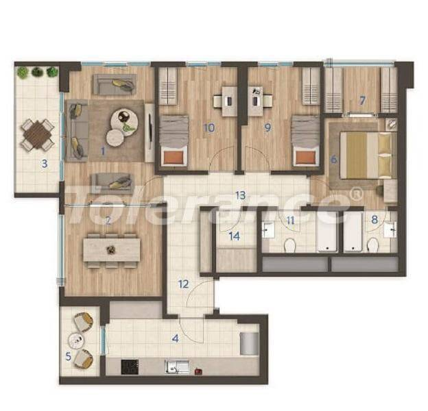 Modern apartments in the center of Istanbul of the best quality from the developer - 27393 | Tolerance Homes