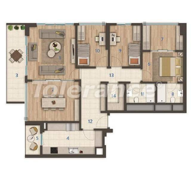 Modern apartments in the center of Istanbul of the best quality from the developer - 27394 | Tolerance Homes