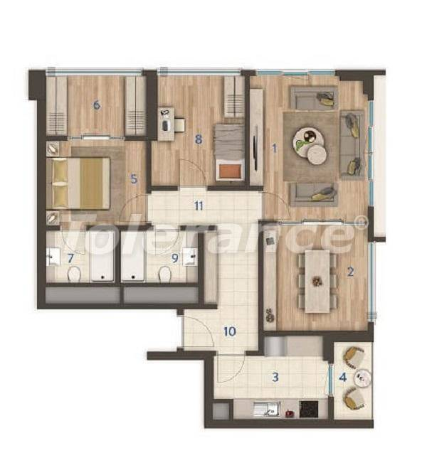Modern apartments in the center of Istanbul of the best quality from the developer - 27390 | Tolerance Homes