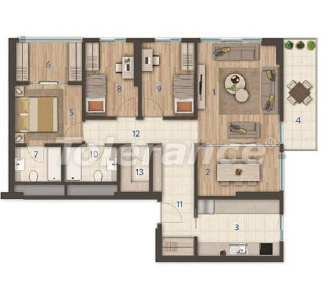 Modern apartments in the center of Istanbul of the best quality from the developer - 27392 | Tolerance Homes