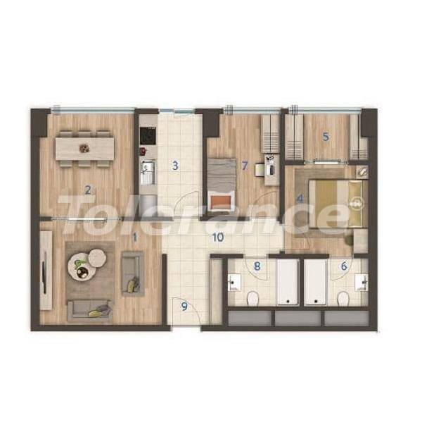 Modern apartments in the center of Istanbul of the best quality from the developer - 27389 | Tolerance Homes