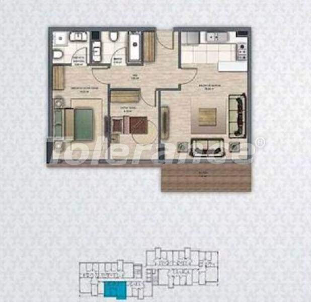 Luxury apartments in Beylikduzu, Istanbul with installments in a complex with infrastructure - 27410 | Tolerance Homes