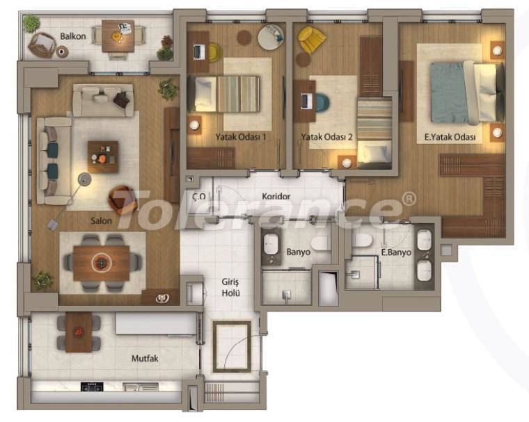 Luxury apartments in Istanbul in an exclusive complex with Bosphorus view - 27416   Tolerance Homes