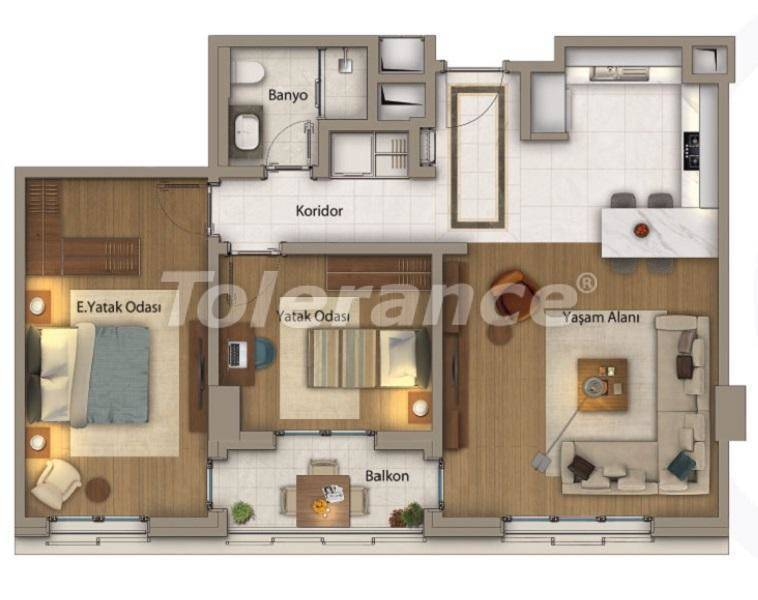 Luxury apartments in Istanbul in an exclusive complex with Bosphorus view - 27414 | Tolerance Homes