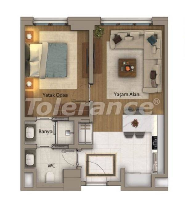 Luxury apartments in Istanbul in an exclusive complex with Bosphorus view - 27412 | Tolerance Homes