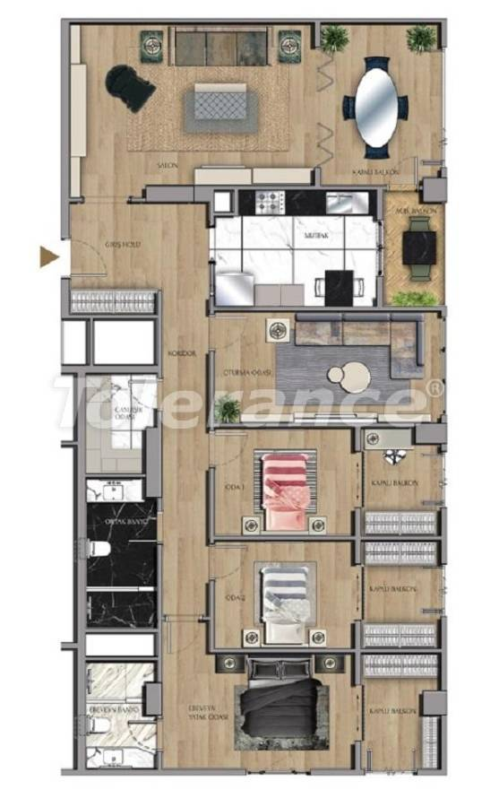Luxury apartments and offices in Sariyer, Istanbul near the TEM highway and Belgrade Forests - 27436 | Tolerance Homes