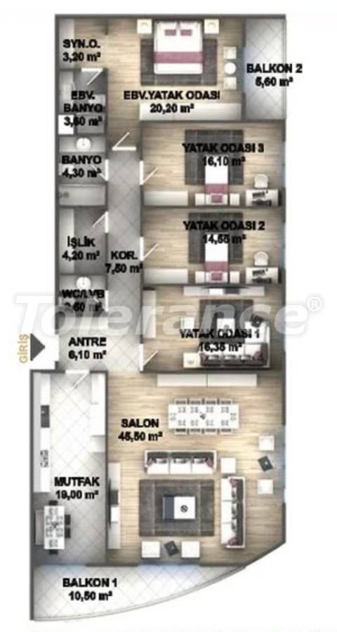 Luxury apartments in Istanbul in a project profitable for investment from the developer - 27538 | Tolerance Homes