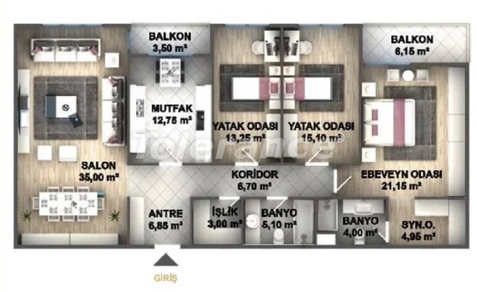 Luxury apartments in Istanbul in a project profitable for investment from the developer - 27536 | Tolerance Homes