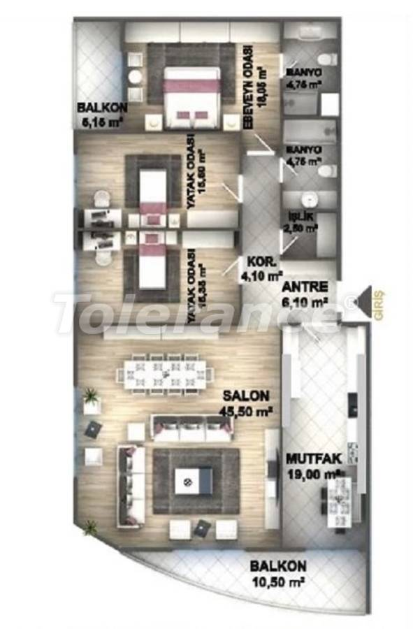 Luxury apartments in Istanbul in a project profitable for investment from the developer - 27537 | Tolerance Homes
